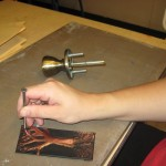 Students created etching in metal