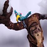 Oak tree & bird soft sculpture