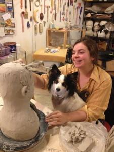 Korin's studio mate and best friend Laura Thompson.
