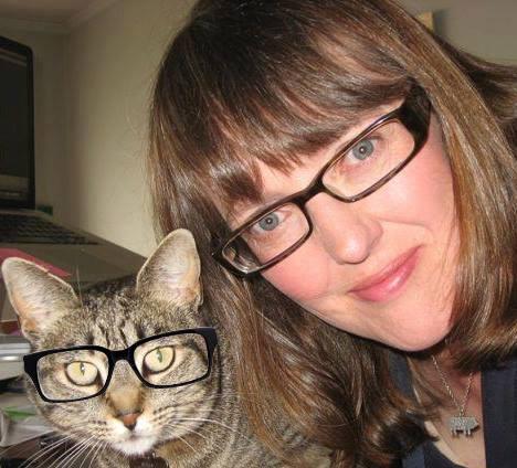 Bella (the cat) and Deborah - David Peattie version!