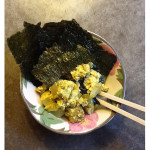 Curry tofu with toasted nori