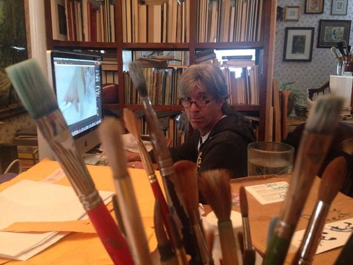 David at computer